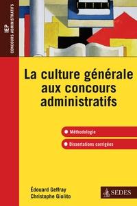 La culture générale aux concours administratifs - Edouard Geffray | Showmesound.org