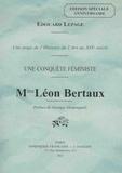 Edouard Lepage - Mme Léon Bertaux - Une conquête féministe.