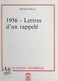 Edouard Mayor - 1956 - Lettres d'un rappelé.