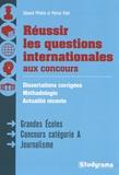 Edouard Pflimlin et Patrice Vidal - Réussir les questions internationales aux concours.
