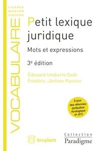 Petit lexique juridique- Mots et expressions - Edouard Umberto Goût pdf epub