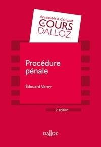 Edouard Verny - Procédure pénale.