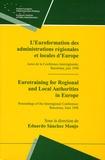 Eduard Sanchez Monjo et Phillippe Burghelle Vernet - L'Euroformation des administrations régionales et locales d'Europe - Actes de la Conférence interrégionale, Barcelone, juin 1998.