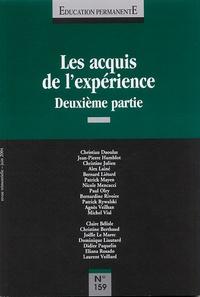Patrick Mayen - Education permanente N° 159, Juin 2004 : Les acquis de l'expérience - Deuxième partie.