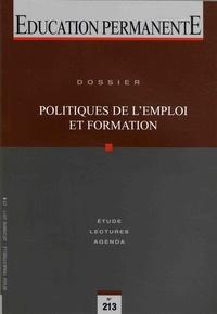 Paul Santelmann - Education permanente N° 213, décembre 201 : Politiques de l'emploi et formation.