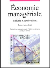 Deedr.fr Economie managériale. Théorie et applications Image