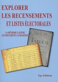 EGV Editions - Explorer les recensements et listes électorales en généalogie - La méthode à suivre, les documents à exploiter.