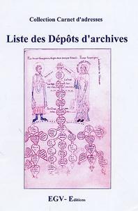 EGV Editions - Liste des Dépôts d'archives.