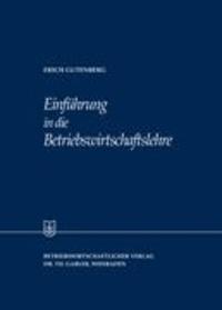 Einführung in die Betriebswirtschaftslehre.