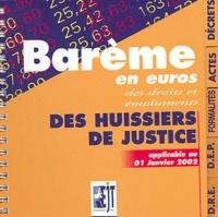 Goodtastepolice.fr Barème en euros des droits des émoluments des huissiers de justice - Applicable au 1er janvier 2002 Image