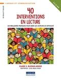 Elaine-K McEwan-Adkins - 40 interventions en lecture - Les meilleures pratiques pour aider les lecteurs en difficulté.