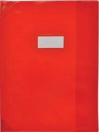 ELBA MOULT - Protège-cahier cristal 17X22 rouge