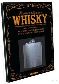 Elcy - Apprendre à déguster le whisky - Coffret livre + flasque en inox gravé.