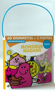 Elcy - Monsieur Madame cuisine - 60 gommettes repositionnables et 2 posters.