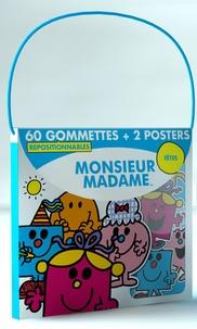 Elcy - Monsieur Madame Fête - 60 gommettes repositionnables + 2 posters.