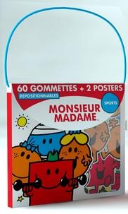 Elcy - Monsieur Madame sport - 60 gommettes repositionnables et 2 posters.