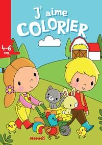 Elen Lescoat - J'aime colorier ferme.