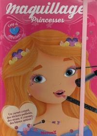 Elen Lescoat - Maquillage princesses - Avec plus de 160 stickers pailletés, des strass, des bijoux tatoos, 1 carnet créatif avec des modèles.