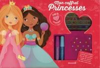 Elen Lescoat - Mon coffret princesses - Avec 2 tubes de paillettes, 20 billants, 200 stickers, 1 page tatoos, 30 robes à découper, 1 bloc d'activités.