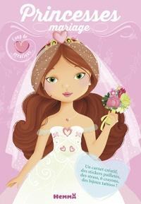 Elen Lescoat - Princesses mariage - Avec un carnet créatif, des stickers pailletés, des strass, 6 crayons, des bijoux tattoos!.