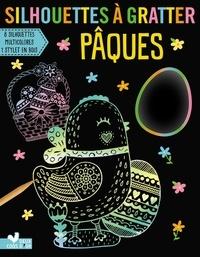 Goodtastepolice.fr Silhouettes à gratter Pâques - Avec 8 silhouettes à gratter, 1 stylet en bois Image