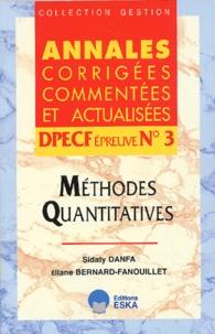 Deedr.fr DPECF épreuve N° 3. Méthodes quantitatives Image