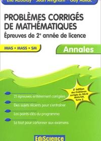 Histoiresdenlire.be Problèmes corrigés de mathématiques Epreuves de licence MIAS MASS SM - Annales Image