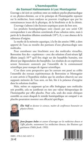 L'homéopathie de Samuel Hahnemann à Luc Montagnier. Mémoire de l'eau, placebo et molécules virtuelles