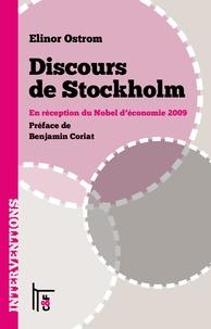 Elinor Ostrom - Discours de Stockholm - En réception du Nobel d'économie 2009.