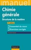 Elisabeth Bardez - Mini Manuel de Chimie générale - 3e éd. - Structure de la Matière.