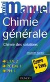 Elisabeth Bardez - Mini manuel de chimie générale - Chimie des solutions cours+exos.