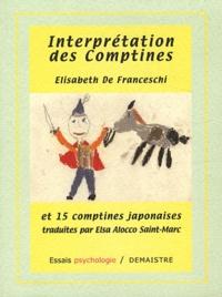 Elisabeth de Franceschi - Interprétation des comptines et 15 comptines japonaises.