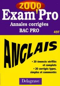 Deedr.fr ANGLAIS BAC PRO. Annales corrigées 2000 Image