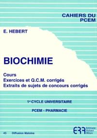 Biochimie 1er Cycle universitaire - Cours, exercices et QCM corrigés Extraits de sujets de concours corrigés.pdf