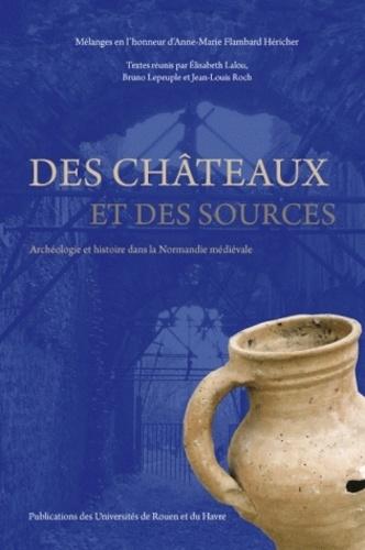 Elisabeth Lalou et Bruno Lepeuple - Des châteaux et des sources - Archéologie et histoire dans la Normandie médiévale - Mélanges en l'honneur d'Anne-Marie Flambard Héricher.