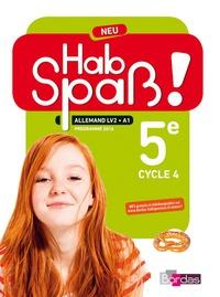 Elisabeth Lansel - Allemand 5e cycle 4 LV2/A1 Hab Spass ! - Livre élève.