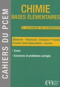 Elisabeth Le Masne de Chermont - Chimie - Bases élémentaires.