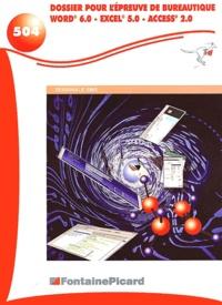 Deedr.fr Dossier pour l'épreuve de bureautique Terminale SMS - Word 6.0, Excel 5.0, Access 2.0 Image