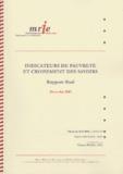 Elisabeth Maurel et Patrice Sauvage - Indicateurs de pauvreté et croisement des savoirs - Rapport final 2003.