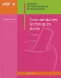 Elisabeth Montagnac - Commentaires techniques écrits.