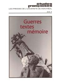 Elisabeth Nardout-Lafarge et Anne Roche - Volume 34 numéro 1.