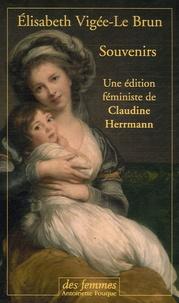 Elisabeth Vigée-Le Brun - Souvenirs Coffret 2 volumes - Une édition féministe de Claudine Herrmann.