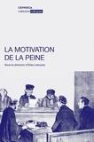 Elise Letouzey - La motivation de la peine.