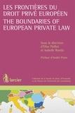 Elise Poillot et André Prüm - Les frontières du droit privé européen.