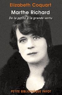 Galabria.be Marthe Richard - De la petite à la grande vertu Image