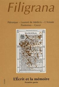 Mireille Blanc-Sanchez - Filigrana N° 3/1996 : L'écrit et la mémoire - Première partie.