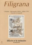 Mireille Blanc-Sanchez - Filigrana N° 4/1997 : L'écrit et la mémoire - Deuxième partie.