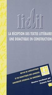 François Quet et Pierre Ceysson - LIDIL N° 33, 2006 : La réception des textes littéraires - Une didactique en construction.