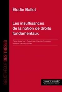 Elodie Ballot - Les insuffisances de la notion de droits fondamentaux.