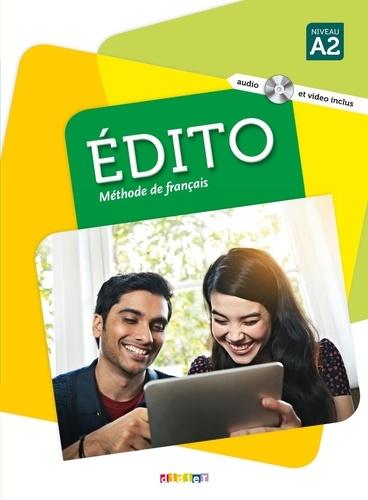 Elodie Heu et Myriam Abou-Samra - Edito Méthode de français niveau A2 - Livre. 1 DVD + 1 CD audio